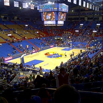 Photo taken at Allen Fieldhouse by Alisha T. on 12/30/2011