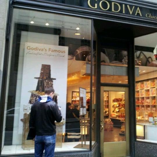 Photo taken at Godiva Chocolatier by Shamika G. on 3/10/2012