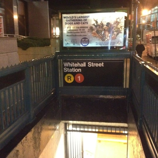 Photo taken at MTA Subway - South Ferry (1) by Thomas H. on 10/21/2011