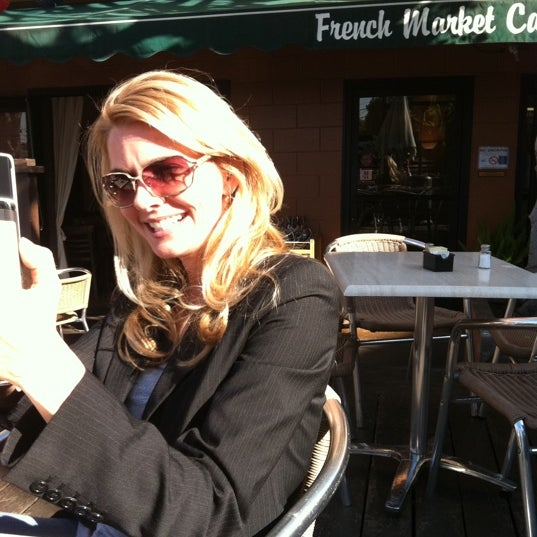 Photo taken at French Market Café by Patrick M. on 12/9/2011