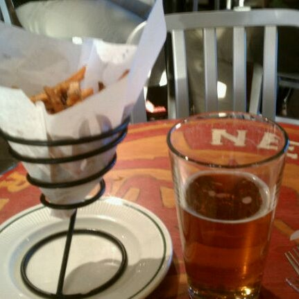 The sweet potatoes fries are a good choice w/ a Fat Tire