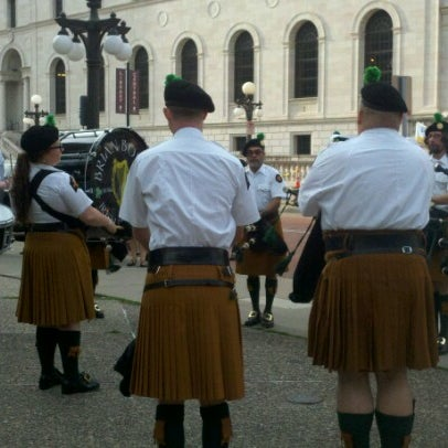 Photo taken at Rice Park by Kay R. on 7/20/2012