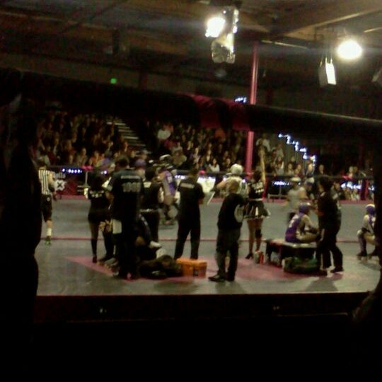 Photo taken at Doll Factory (L.A. Derby Dolls) by Chrissie O. on 11/13/2011