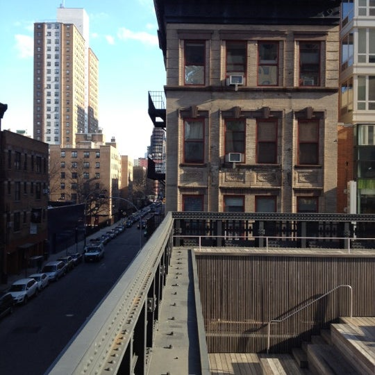 Photo taken at High Line 10th Ave Amphitheatre by David M. on 2/1/2012