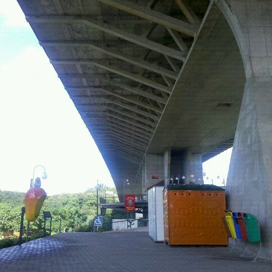 Photo taken at Ponte Estaiada by Victor G. on 6/1/2012
