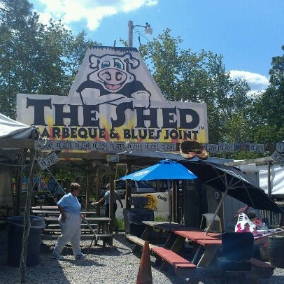 Photo taken at The Shed Barbeque and Blues Joint by Nicole H. on 6/16/2012