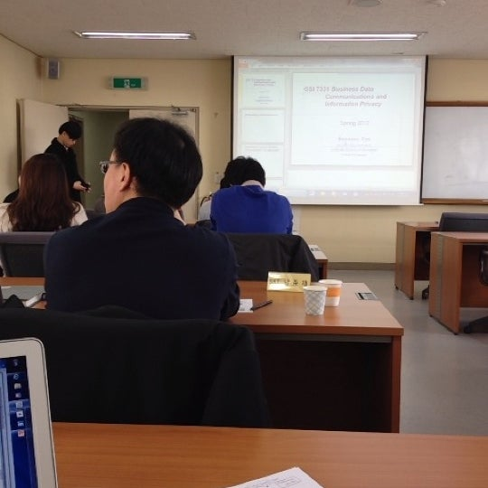 Photo taken at 연세대학교 새천년관 (Yonsei University, New Millennium Hall) by Minju K. on 3/17/2012
