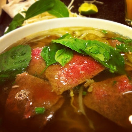 Photo taken at Phở Kim Long by Christopher C. on 4/16/2012