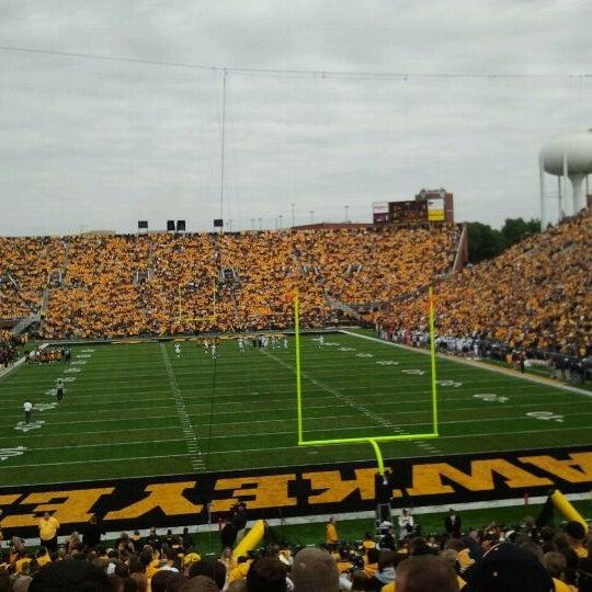 Photo taken at Kinnick Stadium by Julia F. on 9/22/2011