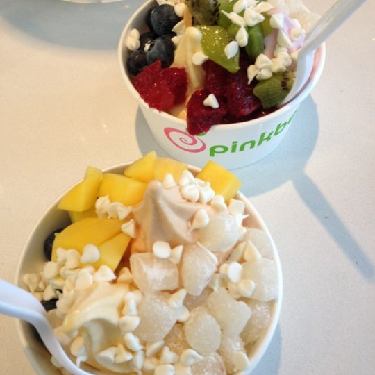 Photo taken at Pinkberry by Kim V. on 3/10/2012