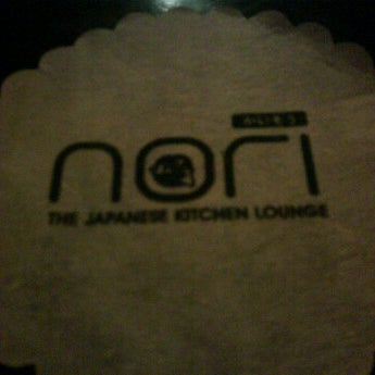Photo taken at Nori The Japanese Kitchen Lounge by Sishi N. on 1/25/2012