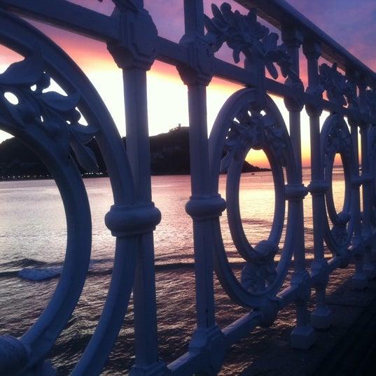 Photo taken at Paseo de La Concha by Jmb Imanol B. on 3/23/2012