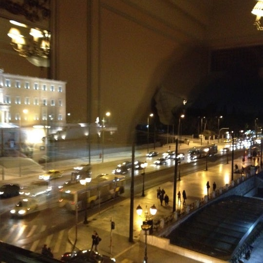 Photo taken at Hotel Grande Bretagne by Vlassis P. on 3/3/2012