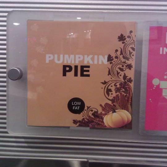 The pumpkin pie is excellent!