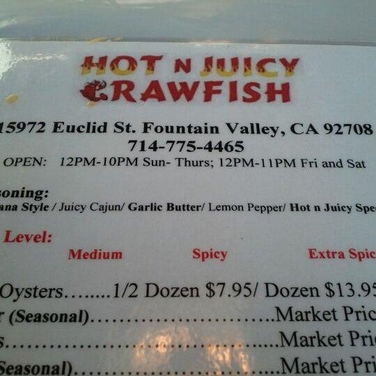 Photo taken at Hot N Juicy Crawfish by Katie T. on 5/4/2012