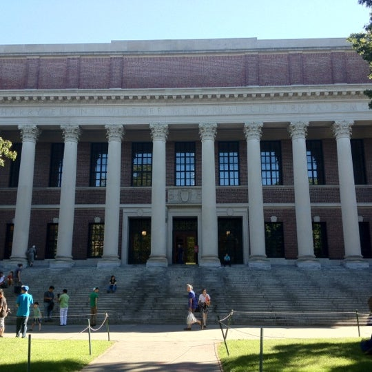 Photo taken at Widener Library by Ricardo L. on 8/29/2012
