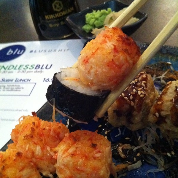 Photo taken at Blu Sushi by Michael V. on 5/3/2012