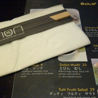 Photo taken at Nori The Japanese Kitchen Lounge by Linawati T. on 9/23/2011