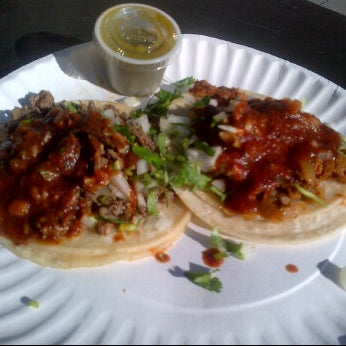 Photo taken at Javier's Tacos Mexico by @SkinnynSatisfied on 12/23/2011