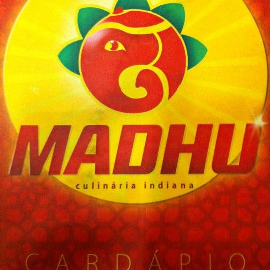 Photo taken at Madhu by Gabriel Z. on 3/13/2011