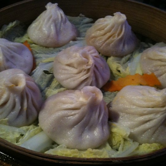 Have the pork and crab soup dumplings!