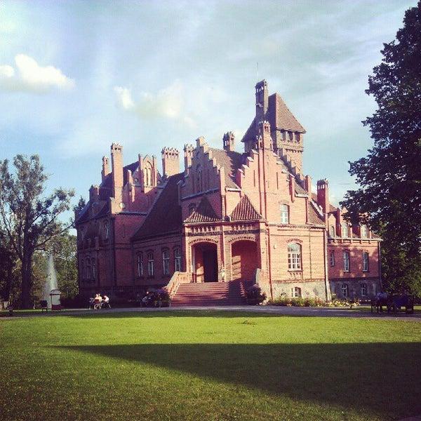Photo taken at Jaunmoku pils by Evgeny P. on 8/5/2012