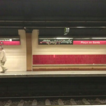 Photo taken at METRO Plaça de Sants by Damiano B. on 7/5/2012