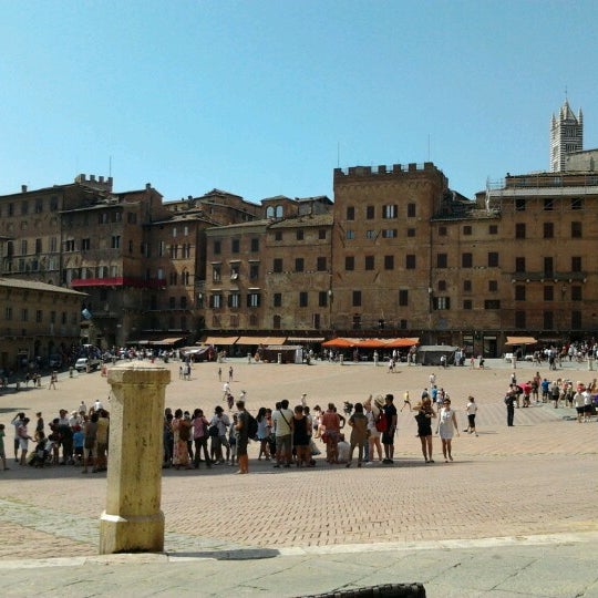 Photo taken at Piazza del Campo by Alejandro on 8/22/2012