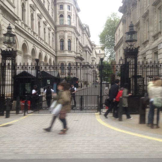 Photo taken at 10 Downing St. by Gene on 5/18/2012