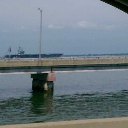 Photo taken at HRBT by Vicki C. on 6/18/2012