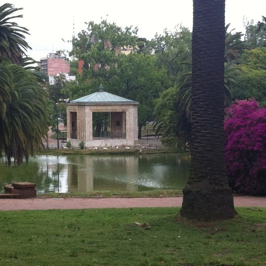 Photo taken at Parque José Enrique Rodó by Guzmán S. on 12/17/2011