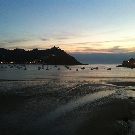 Photo taken at Paseo de La Concha by Joanes R. on 6/5/2012