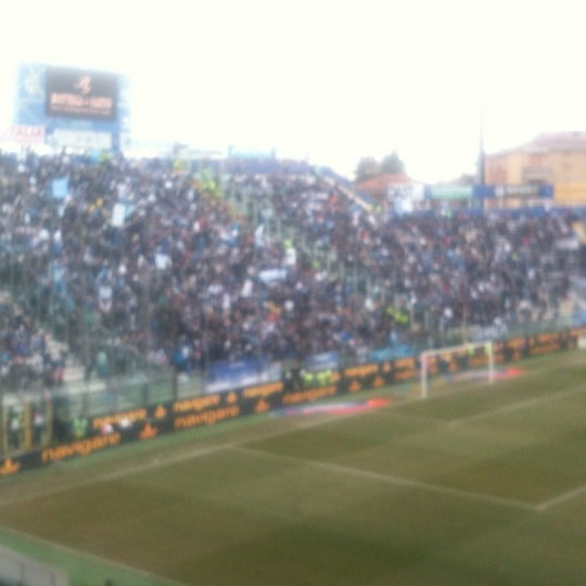 Photo taken at Stadio Ennio Tardini by Luigi D. on 3/4/2012