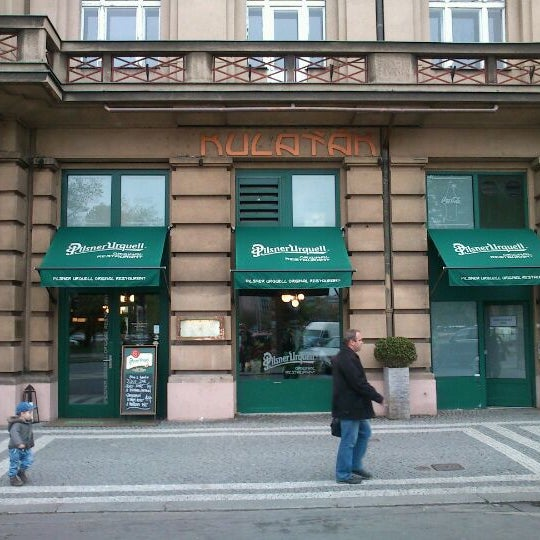 Photo taken at Kulaťák Pilsner Urquell by Adam J. on 4/24/2012