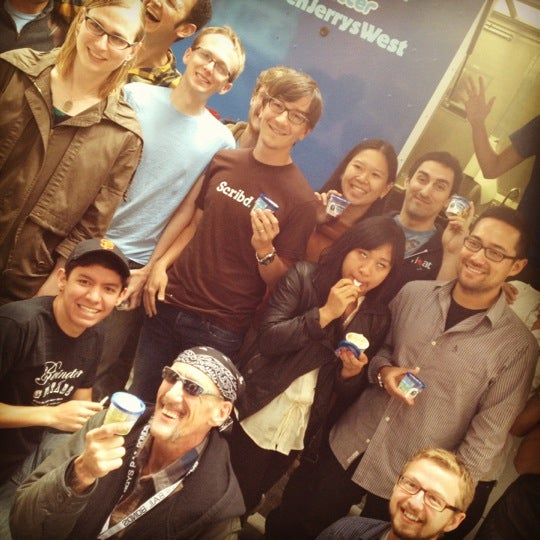 Photo taken at Scribd HQ by Ben Jerry's Truck West on 6/22/2012