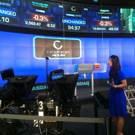Photo taken at Nasdaq Marketsite by Christopher B. on 7/12/2012