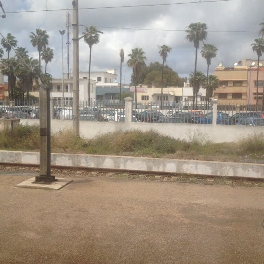 Photo taken at Gare de Mohammédia  محطة المحمدية by Achraf E. on 4/12/2012