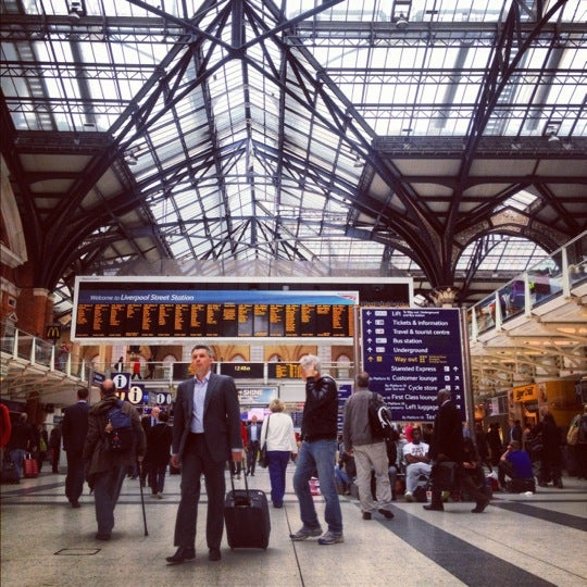 Photo taken at London Liverpool Street Railway Station (LST) by Ree S. on 7/9/2012