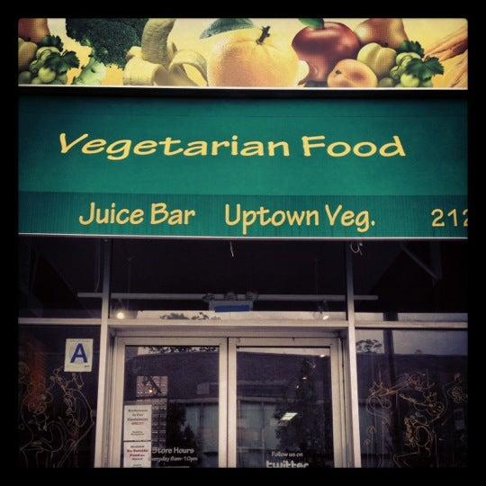 Uptown vegetarian food juice bar now closed for Bar food vegetarian