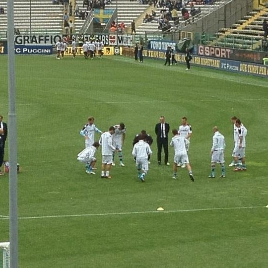 Photo taken at Stadio Ennio Tardini by Andrew W. on 5/14/2012