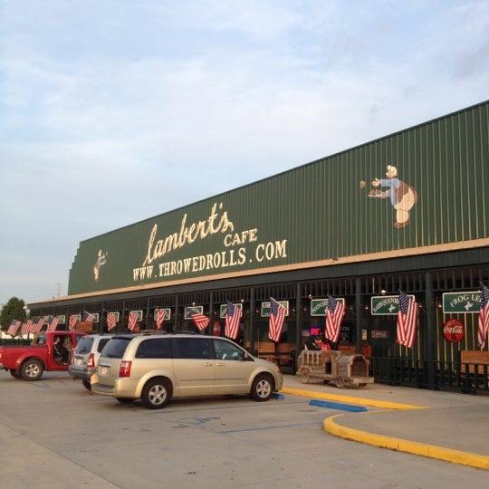 Photo taken at Lambert's Cafe by Jordan H. on 4/18/2012