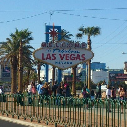Photo taken at Welcome To Fabulous Las Vegas Sign by Martin L. on 5/28/2012