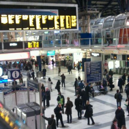 Photo taken at London Liverpool Street Railway Station (LST) by Charlotte K. on 4/25/2012