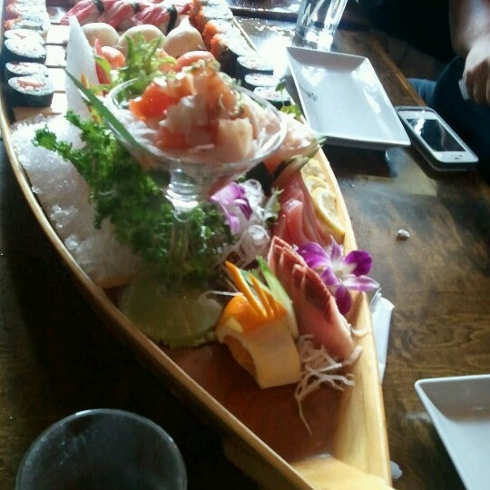 Photo taken at Sushi Thai Too by Brittany T. on 6/10/2012