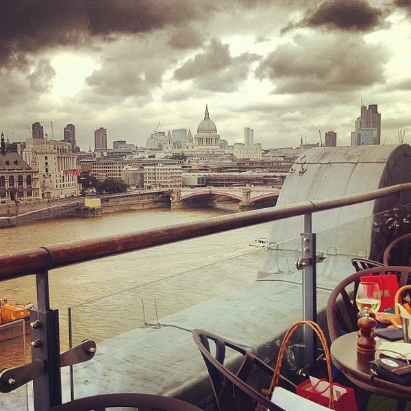 Photo taken at OXO Tower Brasserie by Dane K. on 8/20/2012