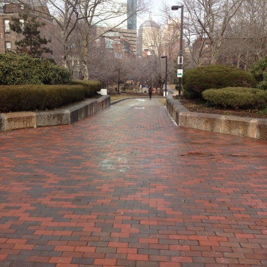 Photo taken at SW Corridor Park - Back Bay by Greg C. on 2/11/2012