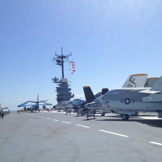 Photo taken at USS Lexington Museum On The Bay by Jess U. on 3/25/2012