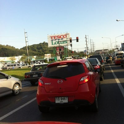 Photo taken at แยกโลตัสภูเก็ต (Lotus Intersection) by S🅰f🅰®i ☀. on 9/3/2012
