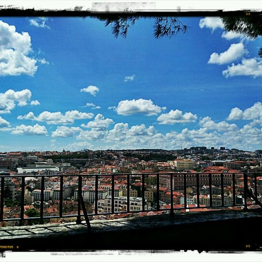 Photo taken at Miradouro Sophia de Mello Breyner Andresen by Miguel on 4/30/2012