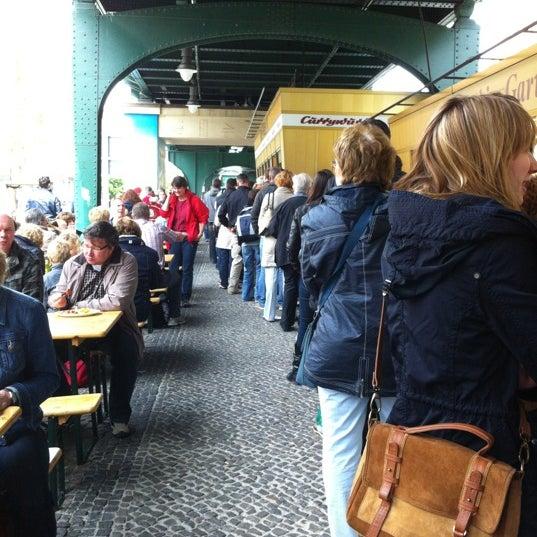 Photo taken at Konnopke's Imbiß by Klaus M. on 5/18/2012